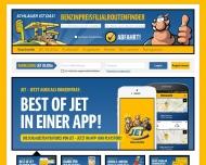 Bild Webseite JET Dortmund