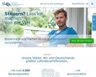 Bild Webseite Lohnsteuerhilfeverein Vereinigte Lohnsteuerhilfe Berlin
