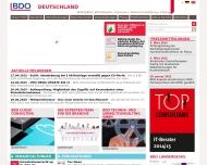 Bild Webseite BDO Unternehmensberatung München