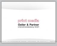 Bild Webseite Print Media Ostler und Partner Unternehmensberatung Augsburg
