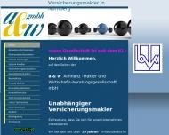 Bild Webseite A & W Allfinanz - Makleru.Wirtschaftsberatungsgesellschaft Nürnberg