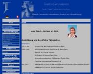 Bild Webseite Tedd's Consultants Deutsch-Französische personal- und Bewerbungsberatung Köln