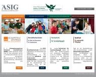 Bild Webseite ASIG Gesellschaft für Unternehmensberatung Berlin