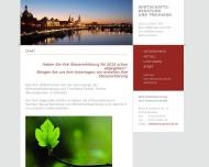 Bild Webseite Wirtschaftsberatung u. Treuhand Dresden
