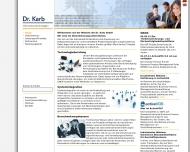 Bild Webseite Unternehmensberatung Dr. Karb Stuttgart