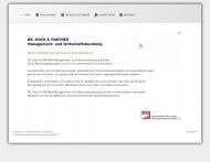 Bild Webseite Koch Dr. Unternehmensberatung BDU Berlin