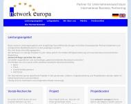 Bild Webseite network europa Joachim Widura München
