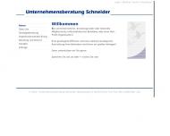 Unternehmensberatung Schneider - Willkommen