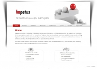 Bild Webseite impetus Unternehmensberatung Frankfurt
