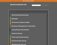 Bild Webseite Becker von Buch Unternehmensberatung Marketing Berlin Berlin