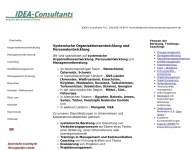 Bild Webseite Unternehmensberatung IDEA-Consultants Berlin