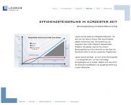 Website Legros Untern.Berat. f. Prozessoptimierung Arbeitswirtschaft u. Untern.Datenm.