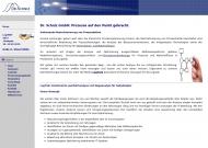 Website Dr. Schniz Gesellschaft für Computersimulation und Unternehmensberatung