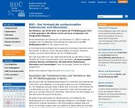 Website Bundesverband der Dolmetscher und Übersetzer