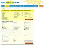 Website discount travel dt