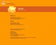 Bild Webseite GENI Institut für Gestalt-Bildung Frankfurt