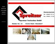 Website Spreitzer Trockenbau