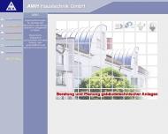 Bild Webseite AWH Haustechnik Wiesbaden