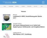 Bild Webseite Bund Deutscher Architekten BDA, Landesverband Nordrhein-Westfalen Düsseldorf