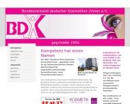 Bild Webseite Bundesverband Deutscher Kosmetikerinnen Düsseldorf