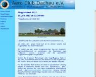 Bild Webseite AERO-Club Dachau Bergkirchen