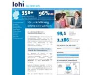 Bild Webseite Lohnsteuerhilfe Bayern Düsseldorf