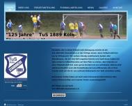 Bild Webseite TuS Stammheim 1889 Köln