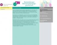 Bild Webseite Rummelsberger Datenverarbei- tungsgesellschaft Nürnberg