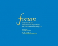 Bild Webseite FORUM für personale und transpersonale Psychologie und kulturelle Entwicklung Nürnberg Nürnberg