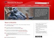 Bild Webseite Ärzte gegen Tierversuche Frankfurt