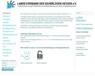 Bild Webseite Landesverband der Gehörlosen Hessen Frankfurt