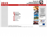 Bild Webseite Verein für Arbeitsorientierte Erwachsenenbildung Frankfurt
