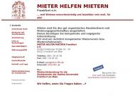 Bild Webseite Mieter helfen Mietern Frankfurt