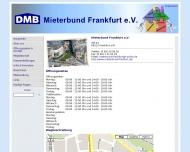 Website Mieterbund Frankfurt