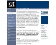 Website KUZ Kultur und Veranstaltungen