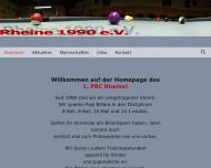 Website 1. Pool Billard Club Rheine