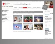 Website Deutsches Rotes Kreuz Kreisverband Mainz-Bingen