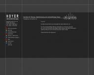 Bild Webseite Hoyer Architekten Nürnberg