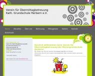 Bild Webseite Verein für Übermittagbetreuung Mariengrundschule Herbern Ascheberg