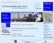 Bild Webseite Lohnsteuerhilfeverein HILO Dischingen