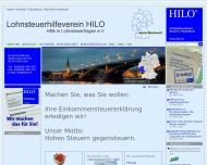 Bild Webseite Lohnsteuerhilfeverein HILO Reutlingen