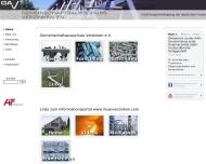 Bild Webseite GAV Gemeinschaftsausschuß Verzinken Düsseldorf