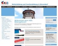 Bild Webseite ASG Arbeitsgemeinschaft Sozialpädagogik und Gesellschaftsbildung Düsseldorf