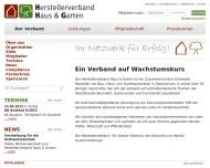 Bild Webseite Herstellervereinigung BAU + DIY Düsseldorf
