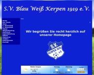 Bild Sportverein Blau-Weiß Kerpen 1919 e.V. , Clubheim Jahnstadion