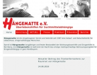 Website Hängematte - Notschlafstelle und Krisenhilfe für Suchtmittelabhängige