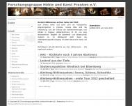 Bild Webseite Forschungsgruppe Höhle und Karst Franken Nürnberg
