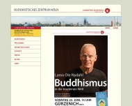 Bild Webseite Buddhistisches Zentrum Köln der Karma-Kagyü-Linie Köln