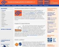 Bild Webseite Bundesvereinigung Stotterer Selbsthilfe Köln