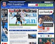 Bild Webseite Fußballsportverein Frankfurt 1899 Frankfurt